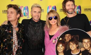 Take That y Lulu en el estreno del musical The Band en Manchester